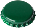 Crown Caps Green (100's)